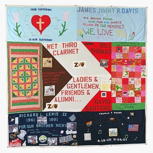 AIDS Quilt panel with Dave and Bill